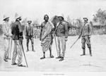 Behanzin arrivant au poste de Goho