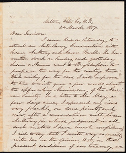 Letter from Oliver Johnson, Milton, Ulster Co[unty], N.Y., to William Lloyd Garrison, 24 March, 1857