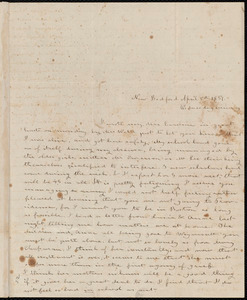 Letter from Deborah Weston, New Bedford, [Mass.], to Caroline Weston, April 5th, 1837, Wednesday evening
