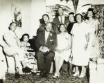Wedding of Burnis McCloud and Marsaline Estes, with friends and family