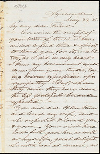 Letter from Samuel Joseph May, Syracuse, [N.Y.], to William Lloyd Garrison, May 23. 1865