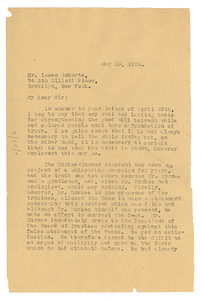Letter from W. E. B. Du Bois to Isaac Roberts