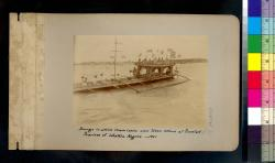 Barge in which Commission was taken ashore at Bacolod : Province of Western Negros -- 1901