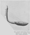 A harp from the Sango people of Yakoma, on the Upper Mubangi