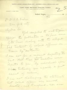 Letter from Ewbank Tucker to W. E. B. Du Bois