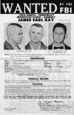 Wanted poster for James Earl Ray