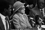Rosa Parks celebrating her 75th birthday at Rosa Parks Day in Tuskegee, Alabama.