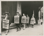 Paul Robeson joining members of the Baltimore chapter of the NAACP in a picket line in front of Ford's Theater, Baltimore