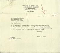 Letter from Edward J. Acton to Mary Beth Sweeney regarding the University of Notre Dame Sophomore Literary Festival