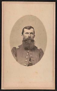 [Captain Adam Gebert of Co. F, 31st Iowa Infantry Regiment in uniform]