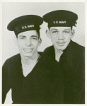 Portrait of two African American brothers Charles Charlton (left) and George Charlton (right) in their sailor uniforms
