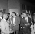 James Peck and other Freedom Riders at the Greyhound station in Birmingham, Alabama.