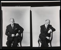 Publicity portraits of White in conversation