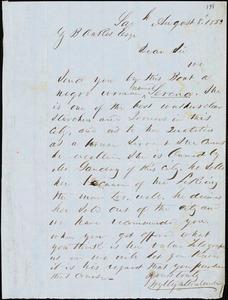 Wylly & Montmollin, Savannah, Ga., manuscript letter signed to Ziba B. Oakes, 8 August 1853