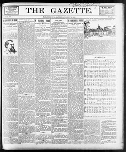 The Gazette. (Raleigh, N.C.), Vol. 9, No. 20, Ed. 1 Saturday, July 3, 1897 The Gazette The Weekly Gazette