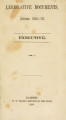 Legislative documents :session ...[1854, 1855]