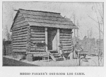 Negro farmer's one-room log cabin