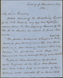 Letter from George Thompson to William Lloyd Garrison, 1862 [December 25
