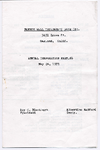 Fannie Wall Children's Home and Day Nursery, Inc. annual corporation meeting program