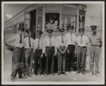 [African American trolley car conductors standing in front of car no. 52, Philadelphia, Pa.]