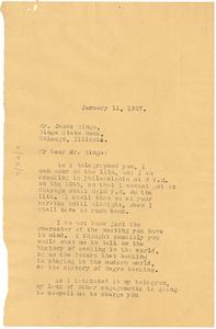 Letter from W. E. B. Du Bois to Jesse Binga