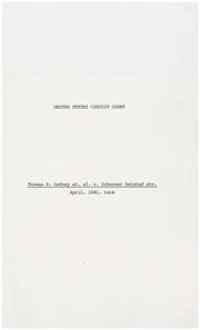 Thomas R. Gedney v. Schooner Amistad [Apr 1841 Term]