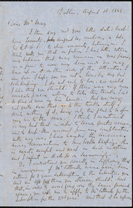 Letter from Richard Davis Webb, Dublin, to Samuel May, August 16, 1854