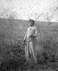 African-American woman in field