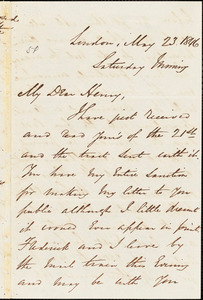 Letter from George Thompson, London, [England], to Henry Clarke Wright, 1846 May 23