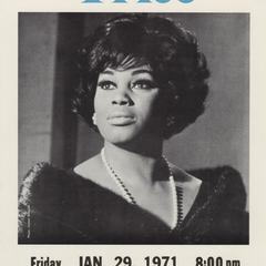 Leontyne Price concert poster