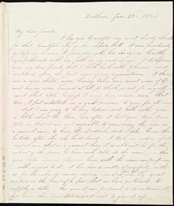 Letter from Catherine H. Spear, Dedham, [Mass.], to Caroline Weston, Jan. 23, 1846