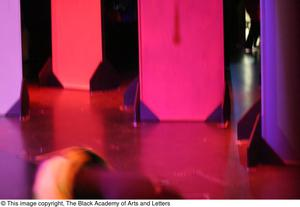 [Blurred Photo of Colorful Stage and Props] Hip Hop Broadway: The Musical