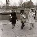 Gwendolyn Brooks was an American poet, author, and teacher, the first African American to win the Pulitzer prize. Brooks visited IWU five times between 1972 and 1999. This picture shows Brooks headed to her reading during the 1972 fine arts festival.