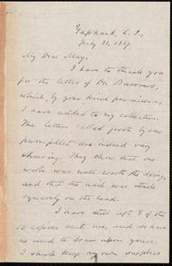 Letter from Oliver Johnson, Yaphark [N.Y.], to Samuel May, Jr., July 31, 1887