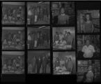 Set of negatives by Clinton Wright including Sight and Sound employees, fraternity gives scholarship to NAACP, and AM & N alumni, 1971