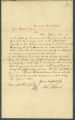 Letter from John J. Roach to James Dellet in Claiborne, Alabama.
