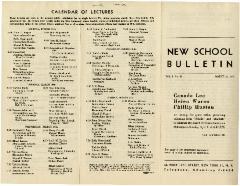 New School Bulletin Vol. I, No. 20