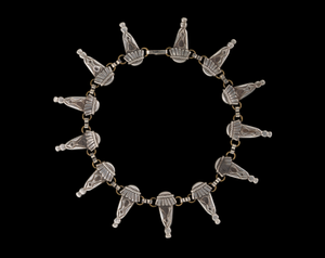 Silverplate necklace designed by Winifred Mason Chenet