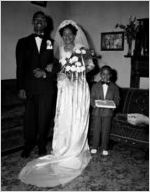 Unidentified wedding (married couple with ring bearer)