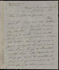 Letter from Sarah Pugh, Great Brunswick St, to Maria Weston Chapman, Anne Warren Weston, Caroline Weston, and Deborah Weston, July 9, [18]52