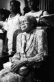 Rosa Parks attending an event, probably at a church in Alabama.