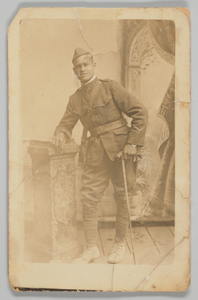 Photographic postcard of Cpl. Lawrence Leslie McVey in uniform