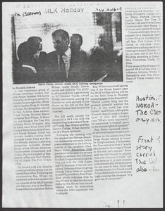 Clipping: African American [..] MLK Holiday