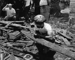 Symbionese Liberation Army crime scene, Los Angeles, 1974