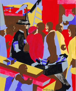 Community (study for mural, Jamaica, NY)