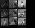 Set of negatives by Clinton Wright including training at Trailer Court, Jo Mackey School basketball teams, Mickey Mouse Club, Wanda Scala and Betty at Clovers, 1967