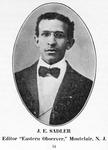 "J. E. Sadler, Editor ""Eastern Observer;"" Montclair, N.J"