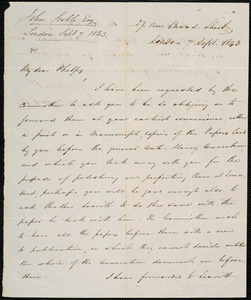 Letter from John Scoble, London, to Amos Augustus Phelps, 7 Sept. 1843