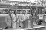 New transit system unveiled, Los Angeles, 1986