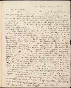 Letter from William Lloyd Garrison, New York, to Helen Eliza Garrison, May 4, 1838
